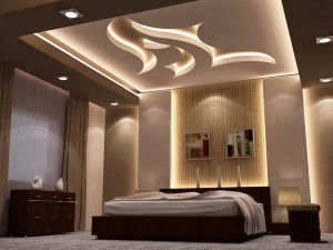 un design moderne avec un faux plafond. Black Bedroom Furniture Sets. Home Design Ideas